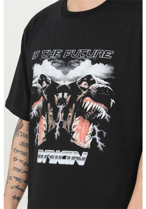 Black t-shirt short sleeve i'm brian I'M BRIAN | T-shirt | TS1702009