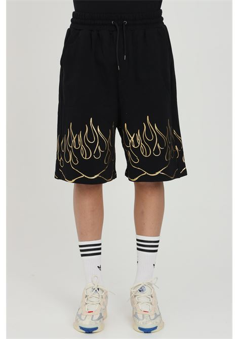 Shorts con elastico in vita e stampa gold IHS | Shorts | BF03S999
