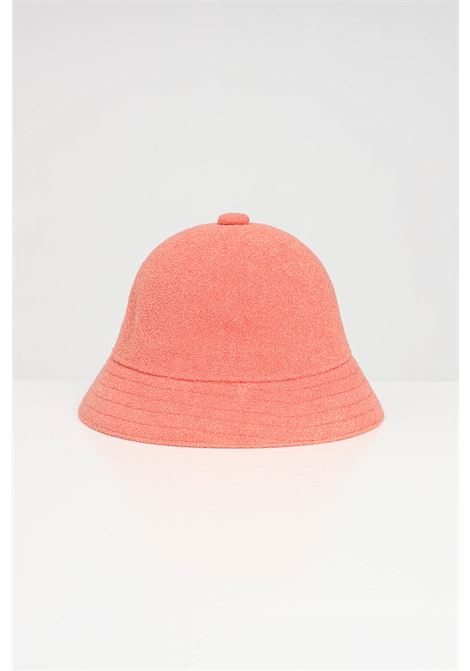 Kangol pink Casual unisex hat, bucket model with contrasting logo KANGOL | Hat | 0397BC.PP694