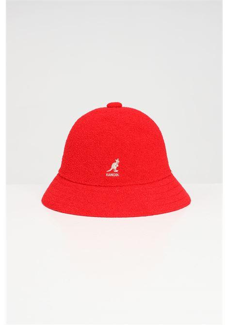 CappelloTropic Casual unisex rosso Kangol, modello bucket con logo a contrasto KANGOL | Cappelli | 0397BC.SC613