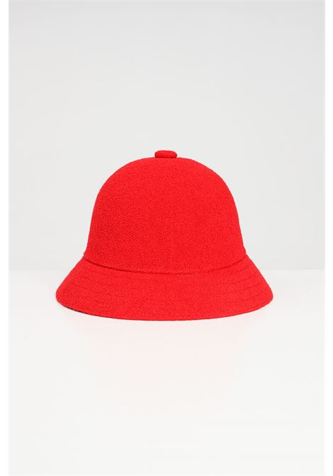 Kangol red Casual unisex hat, bucket model with contrasting logo KANGOL | Hat | 0397BC.SC613