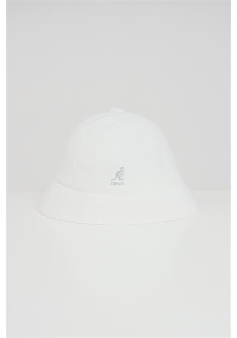 Kangol white Casual unisex hat, bucket model with contrasting logo KANGOL | Hat | 0397BC.WH103
