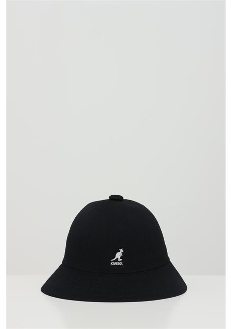 Black Tropic Casual hat, bucket model in solid color with contrasting logo. Kangol KANGOL | Hat | K2094STBK001