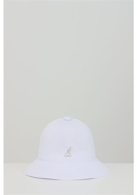 White Tropic Casual hat, bucket model in solid color with contrasting logo. Kangol KANGOL | Hat | K2094STWH103