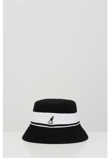 Black-white Bermuda Stripe Bucket hat, bucket model with band and logo in contrast. Kangol KANGOL | Hat | K3326STBK001