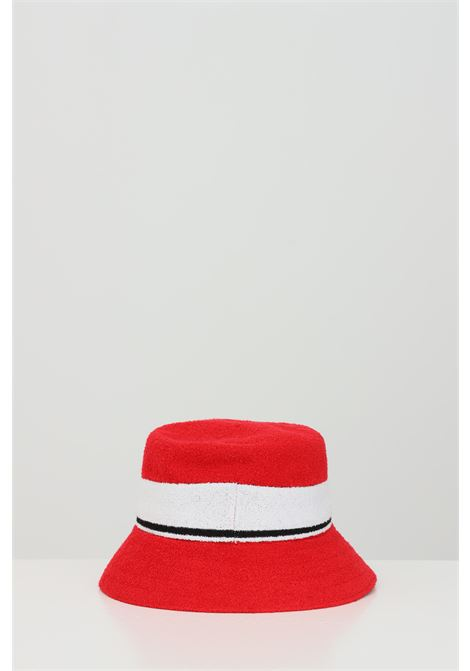 Red-white Bermuda Stripe Bucket hat, bucket model with band and logo in contrast. Kangol KANGOL | Hat | K3326STSC613