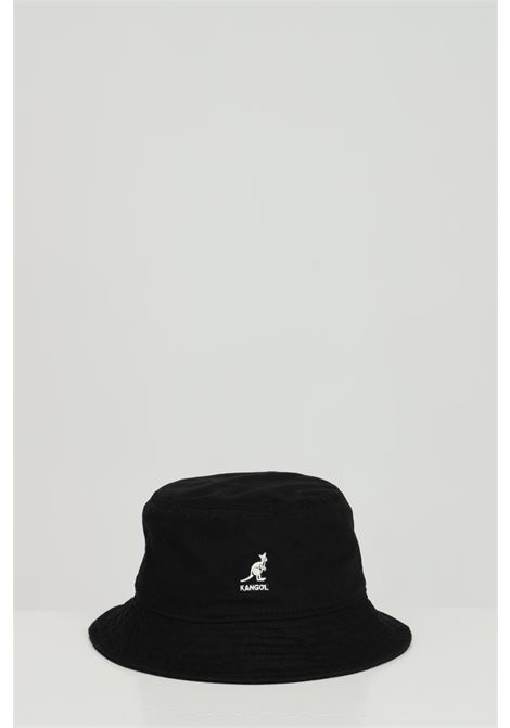 Bucket unisex nero kangol modello bucket con logo frontale a contrasto KANGOL | Cappelli | K4224HTBK001