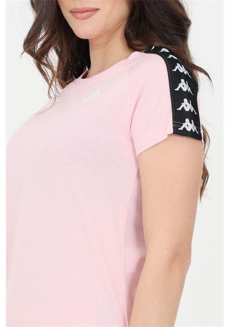 T-shirt donna rosa kappa a manica corta con bande laterali KAPPA | T-shirt | 303WGP0BZ5