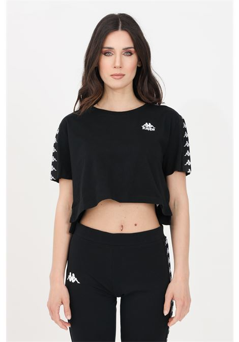 Black women's banda apua t-shirt short sleeve kappa  KAPPA | T-shirt | 303WGQ0005