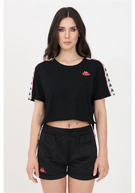 Black women's banda apua t-shirt short sleeve kappa  KAPPA | T-shirt | 303WGQ0BX0