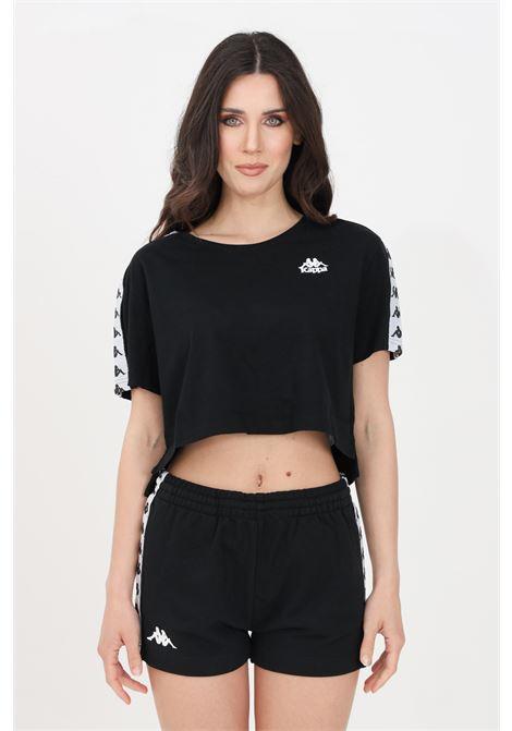 Black women's banda apua t-shirt short sleeve kappa  KAPPA | T-shirt | 303WGQ0BY7