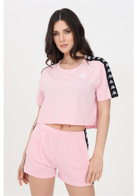 Pink women's banda apua t-shirt short sleeve kappa  KAPPA | T-shirt | 303WGQ0BZ5