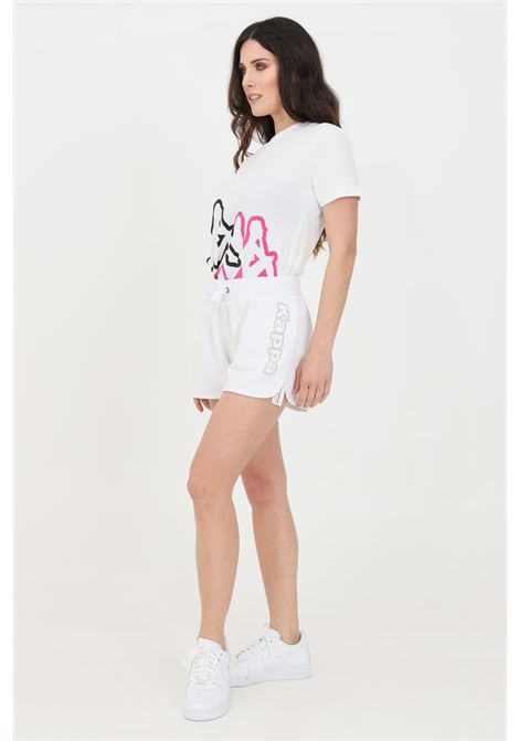 White women's logo birba shorts kappa KAPPA | Shorts | 304IMP0001