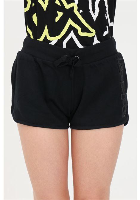 Black women's logo birba shorts kappa KAPPA | Shorts | 304IMP0005
