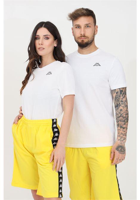 White unisex t-shirt short sleeve kappa KAPPA | T-shirt | 304J150001