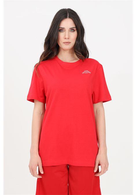Red unisex t-shirt short sleeve kappa KAPPA | T-shirt | 304J150565