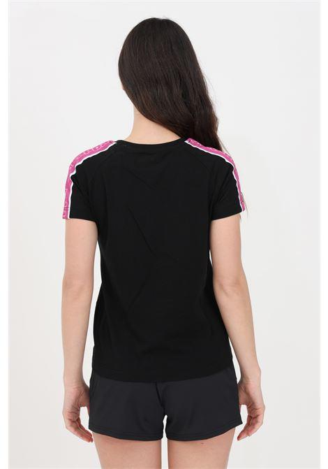 Black women's logo tape amie t-shirt short sleeve kappa KAPPA | T-shirt | 304M530A2V