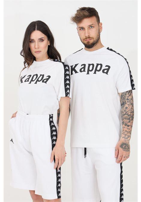 White unisex t-shirt short sleeve kappa  KAPPA | T-shirt | 304NQ00938