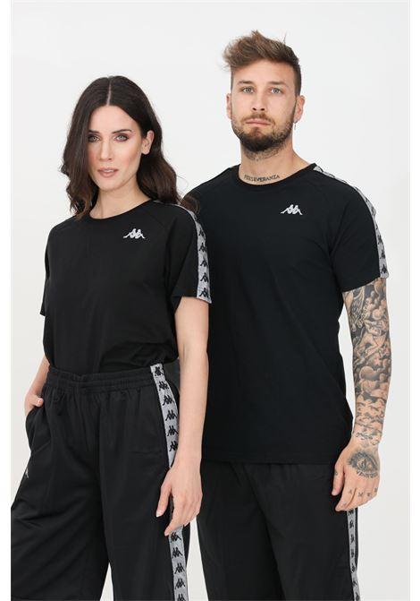 Black unisex t-shirt short sleeve kappa KAPPA | T-shirt | 304UTR0900