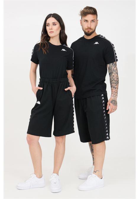 Black unisex shorts kappa KAPPA | Shorts | 3111I3WBZB
