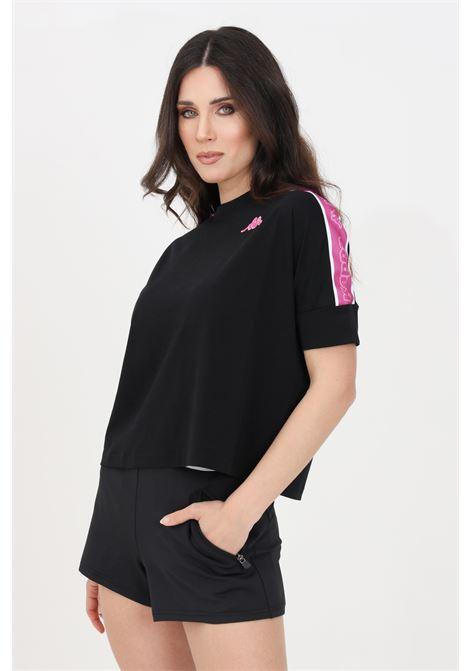 T-shirt donna nero kappa a manica corta KAPPA | T-shirt | 3112DEWA2V