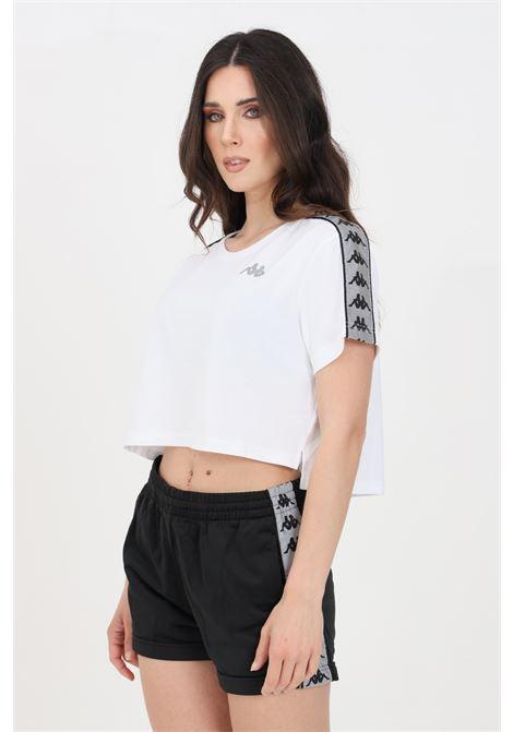 White silver women's banda daisy t-shirt short sleeve kappa KAPPA   T-shirt   3113L3WA0E