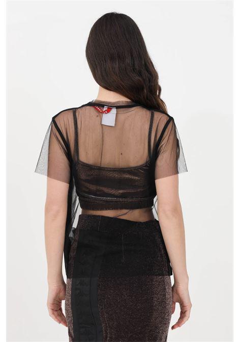 T-shirt banda sparkle eder donna nero kappa a manica corta KAPPA | T-shirt | 3115W8WS00
