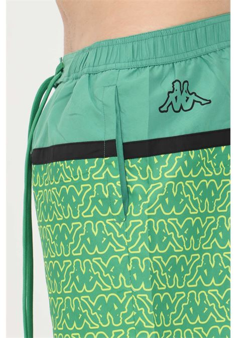 Green logo carter beach shorts kappa KAPPA | Beachwear | 3116IVWA01