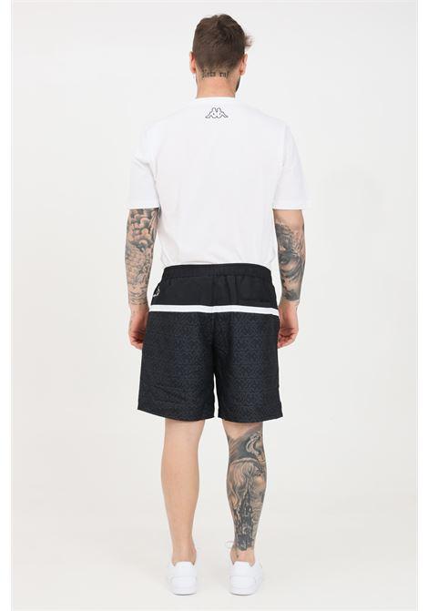 Black logo carter beach shorts kappa KAPPA | Beachwear | 3116IVWA07