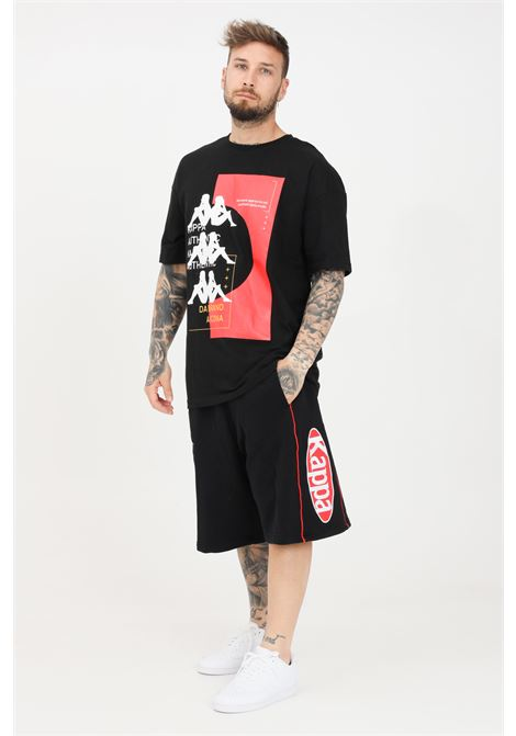 Black men's authentic patch exo shorts kappa KAPPA | Shorts | 3116ZLWA01