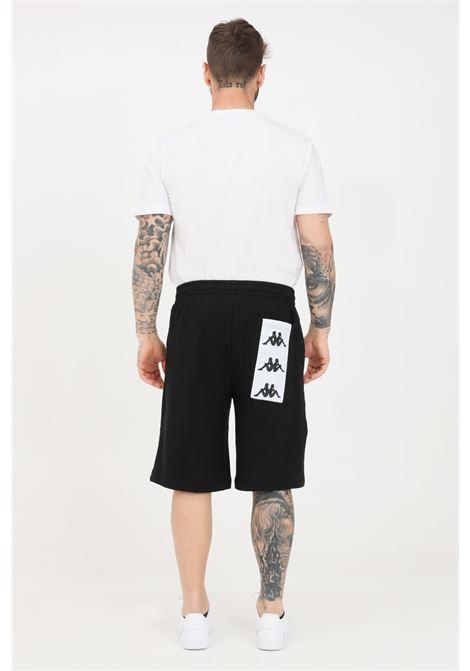 Black men's shorts with logo pocket on the back kappa KAPPA | Shorts | 3117C4WBZB