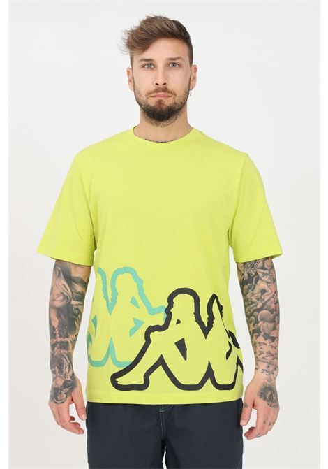 Lime men's logo caffy t-shirt short sleeve kappa KAPPA | T-shirt | 3117CFWV07