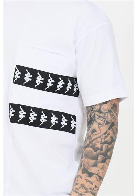 T-shirt banda efto uomo bianco kappa manica corta KAPPA | T-shirt | 3117CJWBZC