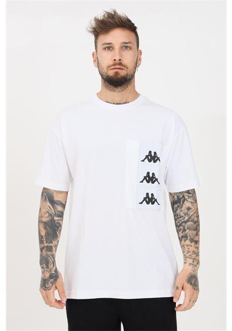 White men's t-shirt with logo pocket short sleeve kappa KAPPA | T-shirt | 3117CMWBZN