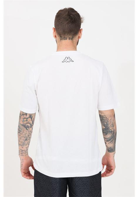 T-shirt uomo bianco kappa a manica corta con stampa pattern KAPPA | T-shirt | 3118H3WA00