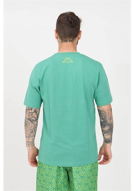 T-shirt uomo verde kappa a manica corta con stampa pattern KAPPA | T-shirt | 3118H3WA01