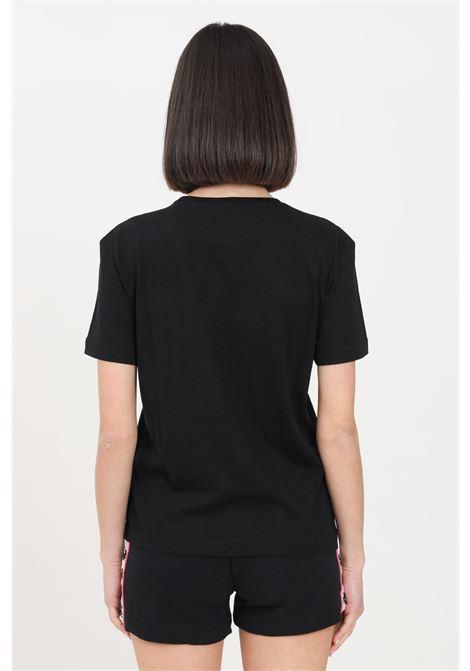 T-shirt donna nero kappa a manica corta con stampa zebra KAPPA | T-shirt | 3119PEW005