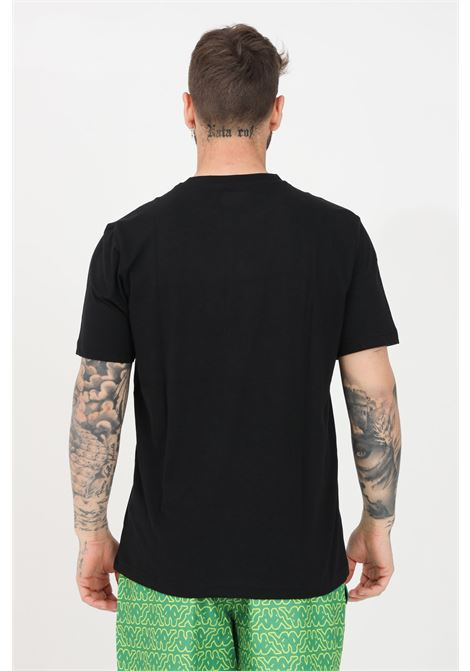 T-shirt uomo nero kappa a manica corta con logo frontale KAPPA | T-shirt | 311BFTW005