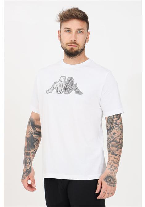 T-shirt uomo bianco kappa a manica corta con logo frontale KAPPA | T-shirt | 311BFUW001