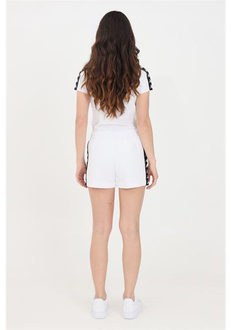 White women's sport shorts with side bands kappa KAPPA | Shorts | 32143QWA01