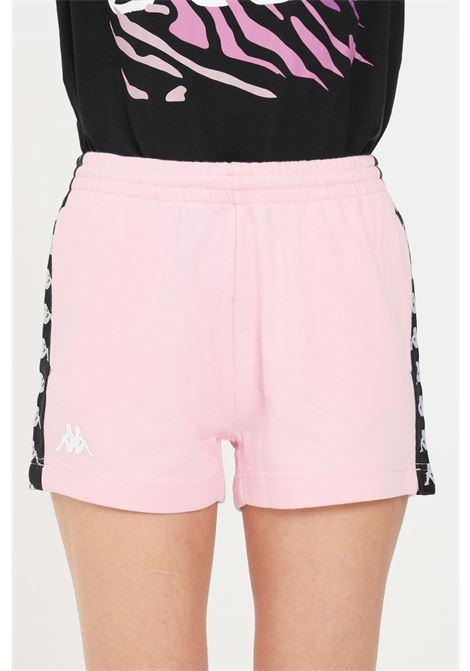Shorts donna rosa kappa sport con bande laterali KAPPA | Shorts | 32143QWBZ5