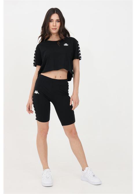 Shorts banda dicles donna nero kappa sport ciclista KAPPA | Shorts | 34119UWBZB