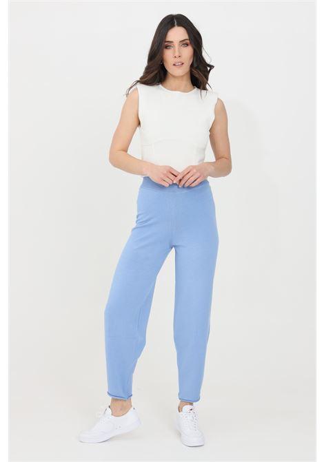 Pantaloni donna azzurro kontatto casual KONTATTO | Pantaloni | 3M7254223