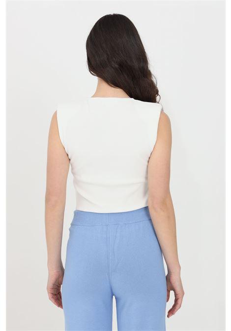 Cream women's sweater sleeveless model kontatto KONTATTO | Knitwear | 3M725811