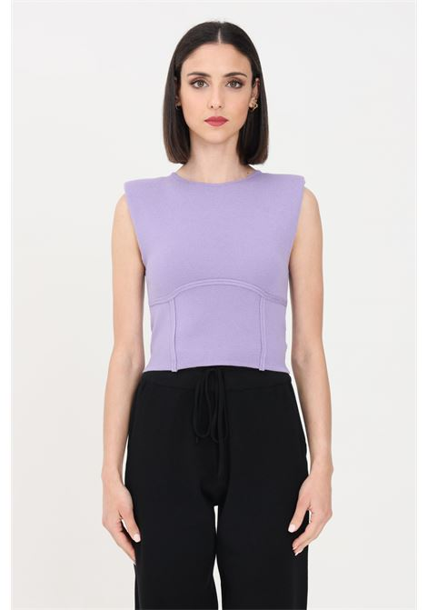 Lilac women's sweater sleeveless model kontatto KONTATTO | Knitwear | 3M7258LILLA