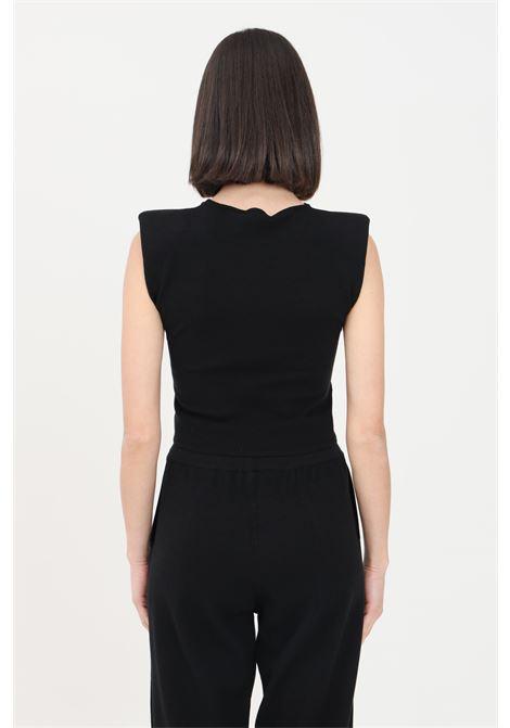 Black women's sweater sleeveless model kontatto KONTATTO | Knitwear | 3M7258NERO