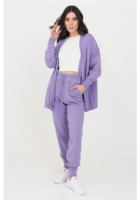 Lilac casual trousers kontatto KONTATTO   Pants   3M7264141
