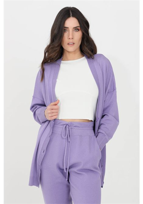 Lilac cardigan with buttons kontatto KONTATTO | Cardigan | 3M7267141