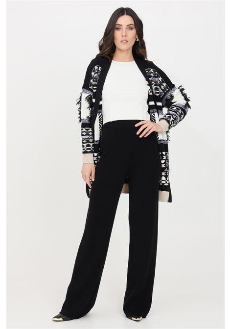 Black casual trousers kontatto KONTATTO   Pants   3M726801