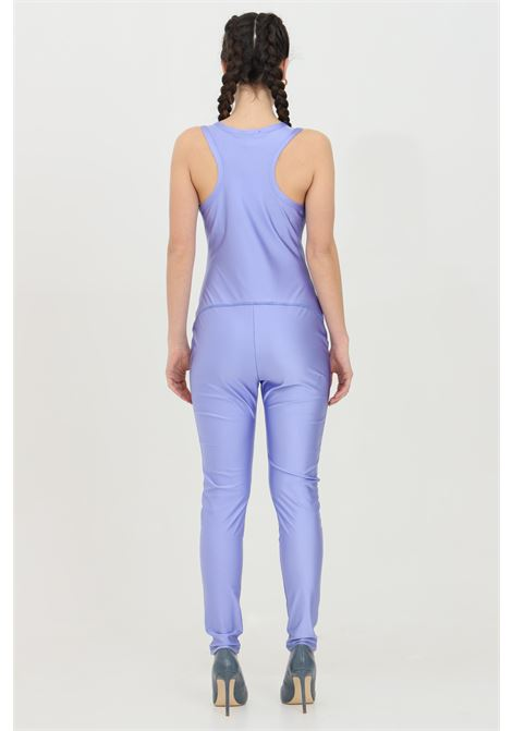 Lilac jumpsuit in satin effect and U-neckline. Slim model. Kontatto KONTATTO | Suit | B3303141